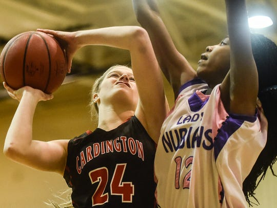 Cardington-Lincoln's Kyndall Spires goes for a layup