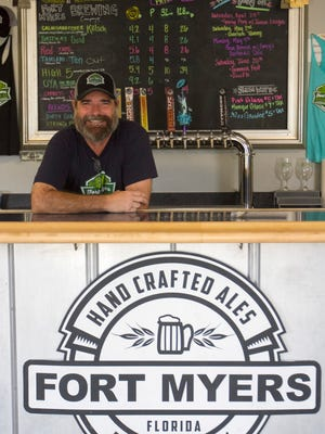 Rob Whyte owns Fort Myers Brewing Co. with his wife, Jennifer Gratz.