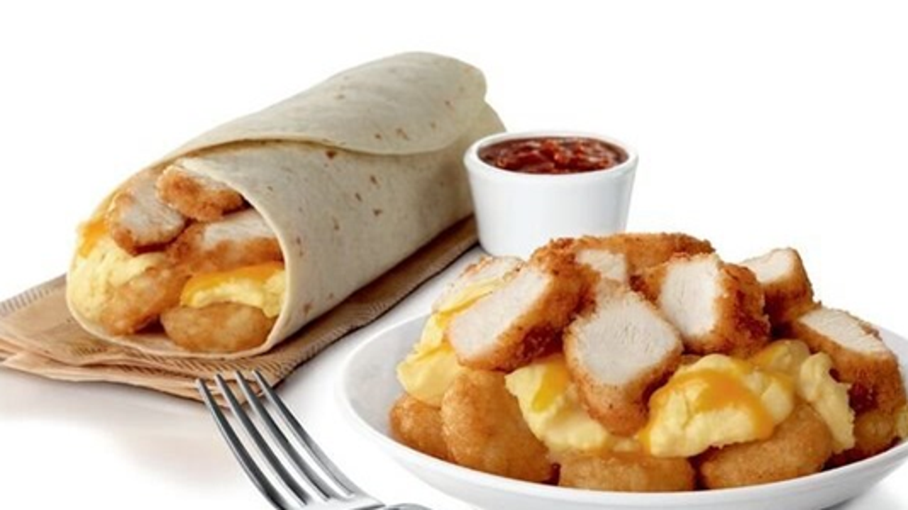 chick-fil-a is serving breakfast bowls with chicken nuggets