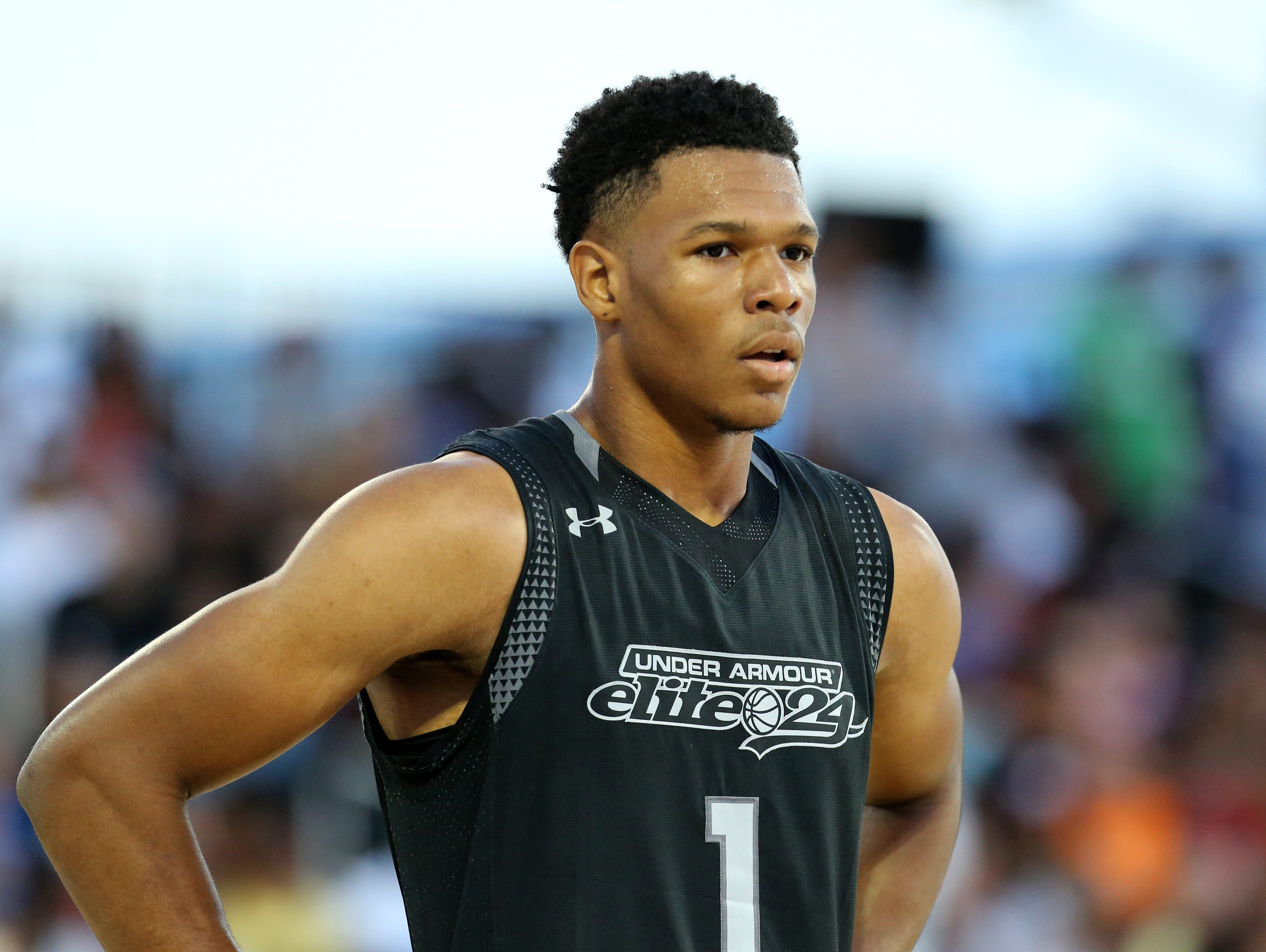 IMG Academy's Trevon Duval, pictured here at the Under Armour Elite 24 game in August, is ranked as the nation's top point guard by ESPN.