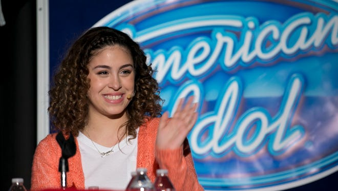 "Gianna Isabella Petrone, a contestant on ""American Idol,"" is given a pep rally at Jackson Memorial on Tuesday, Feb. 9."