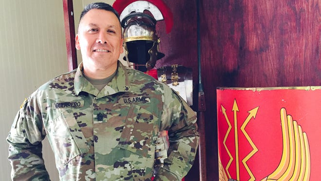 Command Sgt. Maj. Mario F. Guerrero is the new senior enlisted leader for 3rd Battalion, 43rd Air Defense Artillery Regiment. Guerrero grew up in El Paso and graduated from Burges High School.
