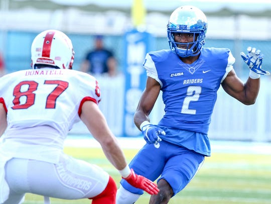 MTSU cornerback Charvarius Ward (2) has never been