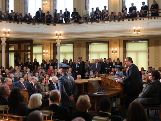 Governor Christie delivers his State of the State address