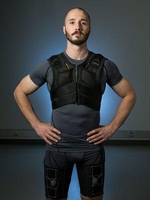 Vanderbilt University graduate student Erik Lamers, who helped develop smart underwear that can prevent back pain.