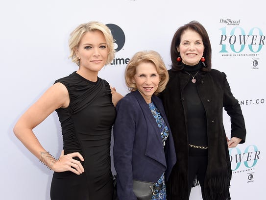 Honorees Megyn Kelly, Shari Redstone and Sherry Lansing