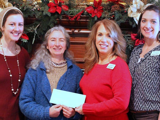 Appleridge Senior Living recently made a $500 donation to the Horseheads Community Animal Shelter. From left, Appleridge Director of Recreation and Wellness Marcie Rice, Appleridge Director of Marketing and Sales Landy Chapple, shelter Manager Pat Wall, and Appleridge Business Development Manager Kimberly Pound.