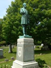 The gravesite for Civil War hero Gen. George Stannard