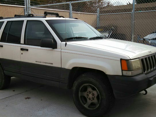 The vehicle involved in the spotlighting incident.
