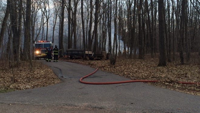 Multiple local fire departments have responded to a structure fire in the town of Mosinee.