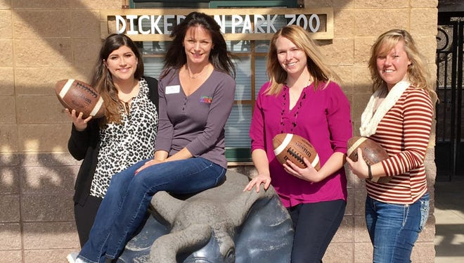 Christine Temple, communication & PR coordinator at OFH; Joey Powell, public relations/marketing director at Dickerson Park Zoo; Jenna Brown, development & community resources assistant coordinator at OFH; Chelsea Hoover, events & volunteer coordinator at Dickerson Park Zoo