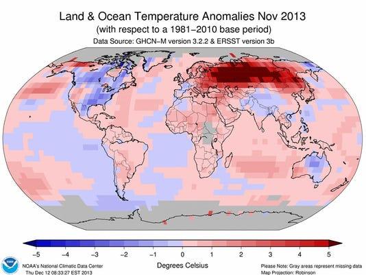 global temps november
