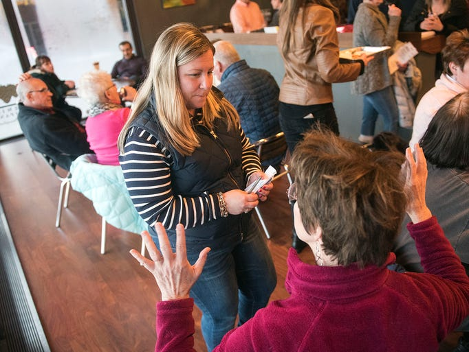 State Rep. Kate Klunk speaks with Kathy Peeling about