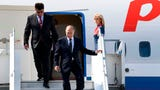 "Russian's Vladimir Putin plane landed in Helsinki, Finland 30 minutes later than planned, pushing back his meeting with US President Donald Trump. Putin's spokesman said he hopes the summit is a ""baby step"" toward fixing US-Russian relations. (July 16)"