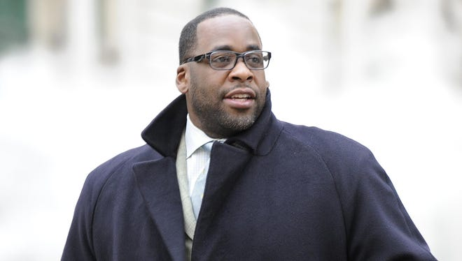 Kwame Kilpatrick owes more than $11 million, but is serving his 28-year prison sentence.