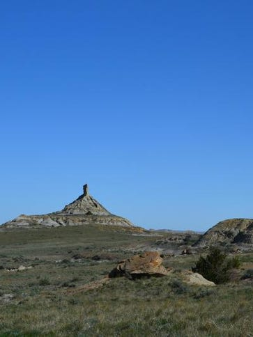 Chimney Rock is one of the unique rock formations that can be seen in the Terry Badlands. TRIBUNE PHOTO/ERIN MADISON