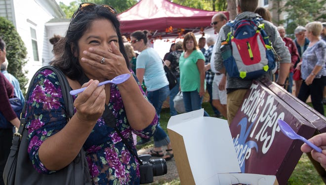 The 56th annual Naples Grape Festival, with arts and crafts vendors, food, a wine-tasting tent and the World's Greatest Grape Pie Contest, happens  Saturday and Sunday, Sept. 24 and 25, on the grounds of Naples High School.