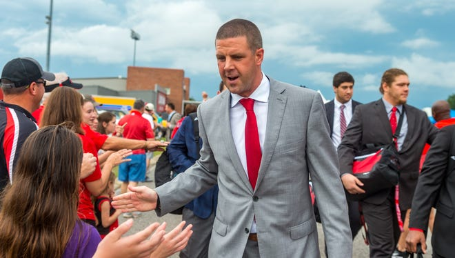 UL coach Billy Napier greeted fans before a season-opening home win over Grambling, and now is taking his Ragin' Cajuns to No. 16 Mississippi State.