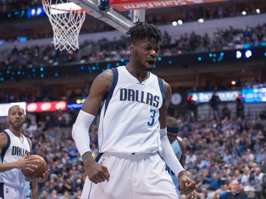 Nerlens Noel reacts to a foul call.