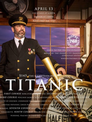 Bistro 1860 is bringing the last first-class meal on board the Titanic to diners in the latest installment of his monthly themed dinners