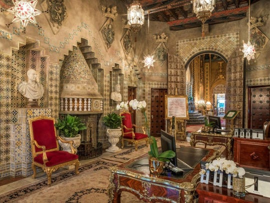 One of Mar-a-Lago's museum-like, art-filled rooms.