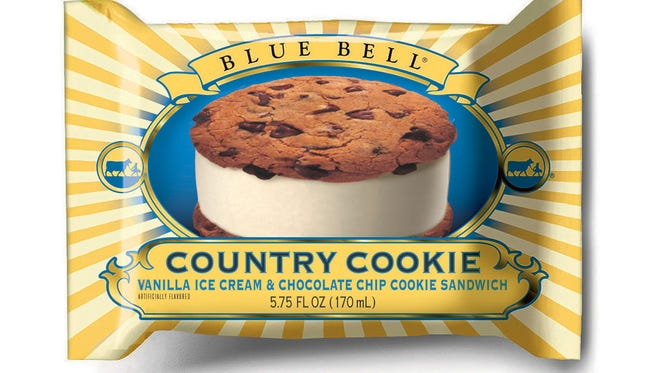 Blue Bell Chocolate Chip Country Cookie ice cream sandwiches are among the products that could be contaminated. The Food and Drug Administration advises throwing affected products in the trash.