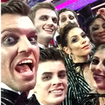 It was Halloween night on 'DWTS,' but first they needed to take a selfie.