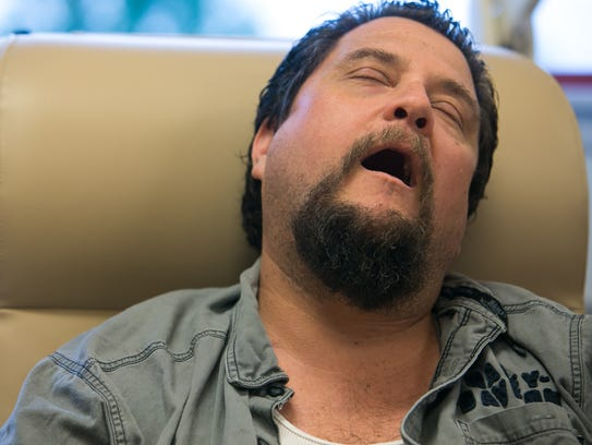 While getting his dialysis treatment, Dave Amalfitano,