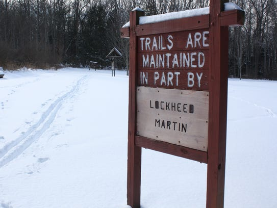 Several nature trails are located behind Waterman Conservation