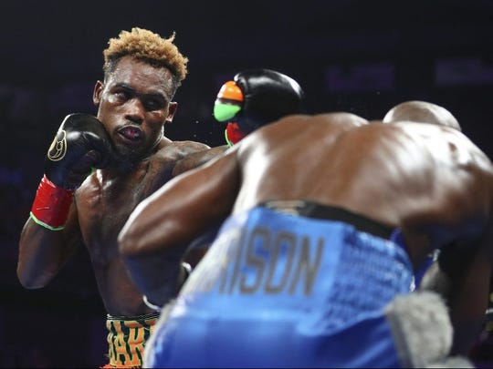 Charlo (left) was leading Tony Harrison on two of three cards after 10 rounds but took matters into his own hands in Round 11. Meg Oliphant / Getty Images