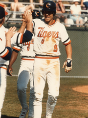 Clemson's Bill Spiers played baseball from 1985-87, earning first-team All-American honors in 1987, and selected as the 13th pick in the first round of the MLB draft by the Milwaukee Brewers in 1987.