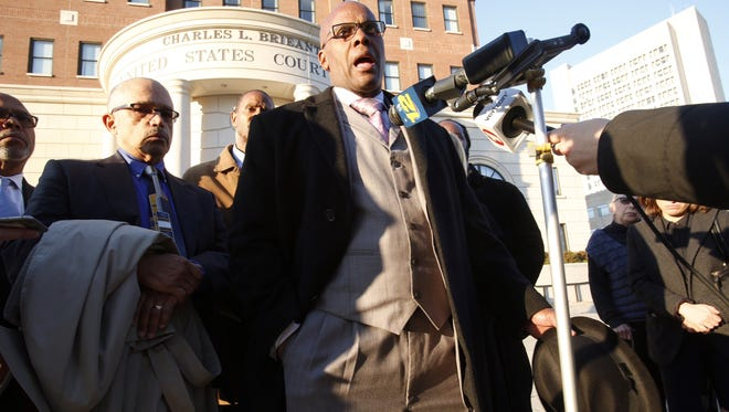 Kenneth Chamberlain Jr. speaks after a jury found for the police Nov. 17 2016 in the wrongful death case of his father, a 69-year-old Marine Corps veteran.