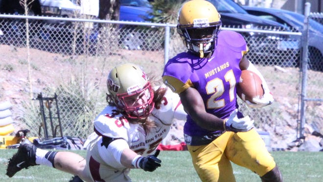 Western's Deandre Williams rushed for 146 yards and a touchdown against Midwestern State last week. He has had some good rushing games and will need to have another one this week to give the Mustangs a chance to win.