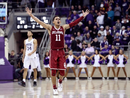 Oklahoma guard Trae Young is having a national player