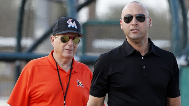 Miami Marlins chief executive officer Derek...