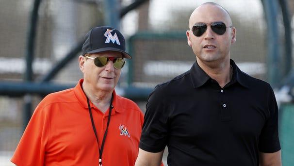 Miami Marlins chief executive officer Derek...