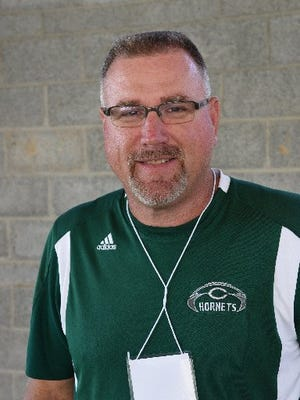 Carter football coach Jeff McMillan in 2015.