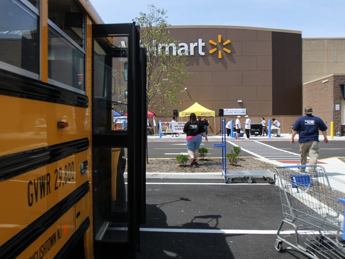 Old Bridge, NJ - United Way of Central Jersey held its annual â??Stuff the Busâ? school supply donation event at Walmart.