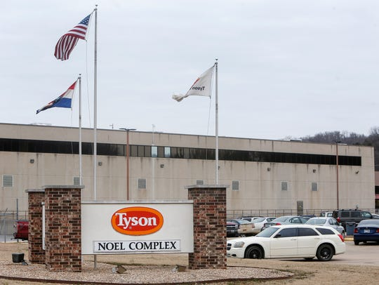 The Tyson Foods plant in Noel, Mo., employs many of