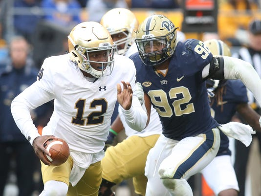 NCAA Football: Notre Dame at Pittsburgh