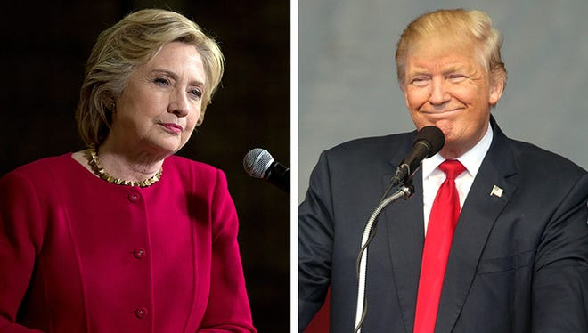 Democratic presidential candidate Hillary Clinton, left, and Republican presidential candidate Donald Trump.