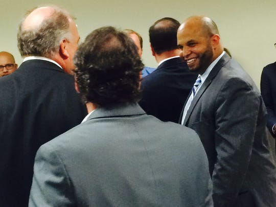 Gloucester County Freeholder Jim Jefferson smiles as