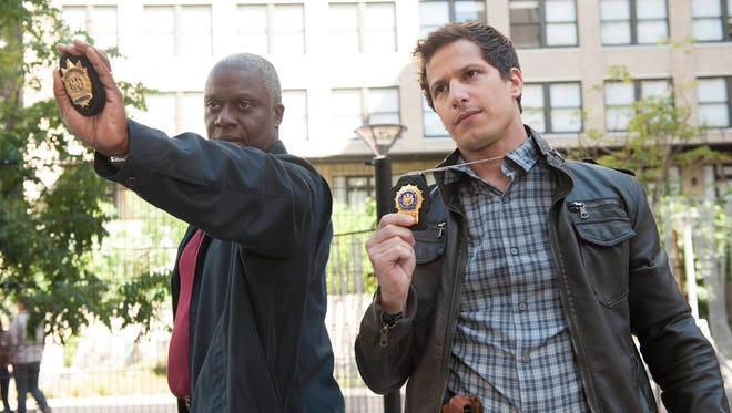 Andre Braugher is the straight-laced gay captain who tries to keep Andy Samberg's silly detective in line.