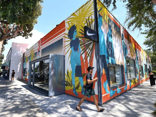The exterior of the new Nike By Melrose store features