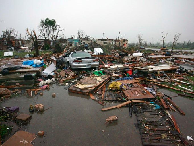 Destruction in Joplin, Mo. on Monday, May 23, 2011