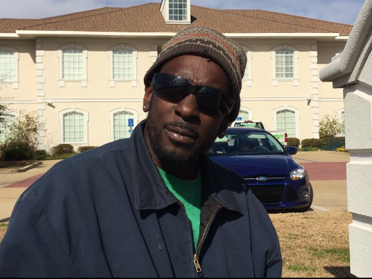 Anthony Broussard works full time with a landscaping
