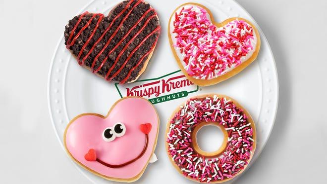 Krispy Kreme Valentine's Doughnuts are available through Feb. 14.