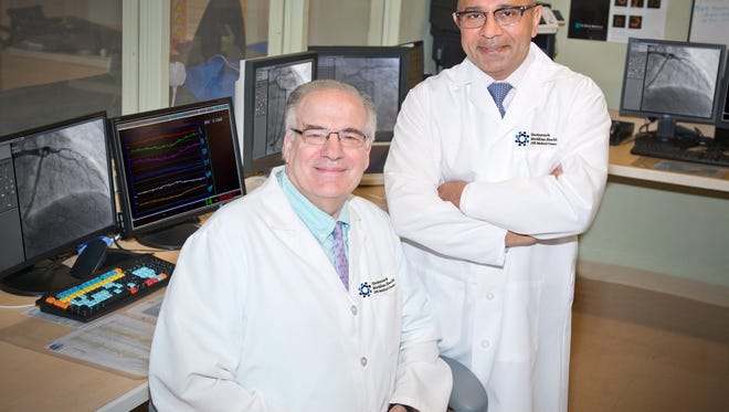 (Left to right) Drs. Aaron Feingold and Saleem Husain, leaders of JFK Medical Center's Cardiac Services team.