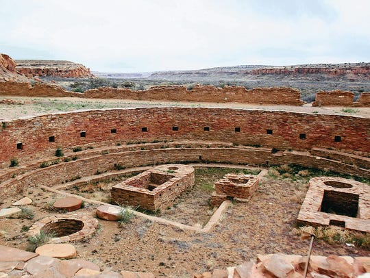 Chaco Culture National Historical Park is pictured.