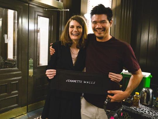 Author Jeannette Walls and director Destin Daniel Cretton
